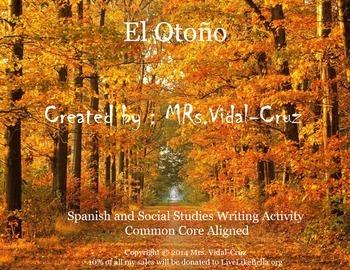 Poemas - A Spanish and Social Studies Writing  Activity !
