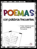 Poemas con palabras frecuentes