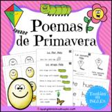 Poemas de primavera (Spring Poems and Mini Books in Spanish) with QR code Videos