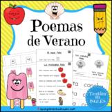 Poemas de verano (Summer Poems and Mini Books in Spanish) with QR code Videos