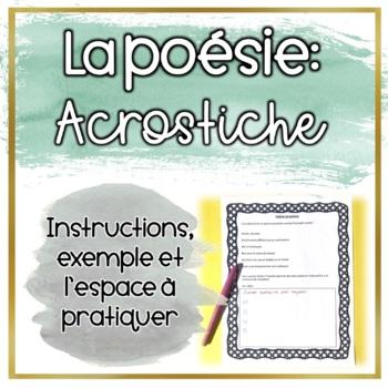 Poème Acrostiche - Acrostic Poem