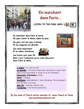 Poème En Marchant Dans Paris With Audio