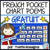 Poème GRATUIT   FREE French Pocket Chart Poem