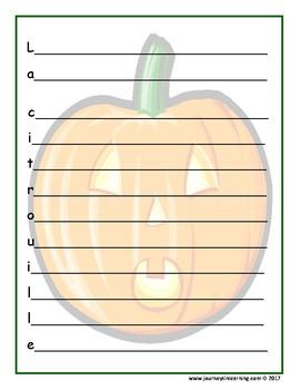 Poèmes acrostiches d'Halloween
