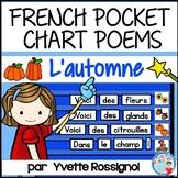 Poèmes pour l'automne et la rentrée | French Fall Pocket Chart Poems