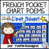 Poèmes pour l'hiver   French Winter Pocket Chart Poems