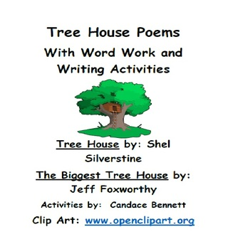 Poems About Tree Houses - with Word Work and Writing Activities