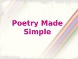 Poetry Made Simple PowerPoint