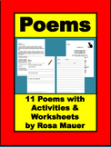 Poetry Unit Poems and Activities for Elementary Classroom
