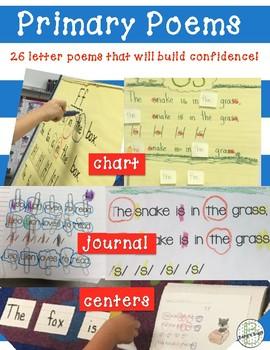 Poetry: Alphabet Letter Poems  ~Primary Level~
