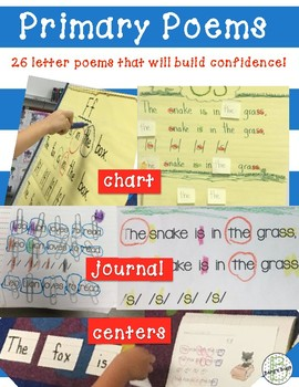 Letter Recognition Poems  ~Primary Level~