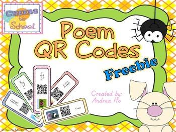 Poems QR Codes Freebie