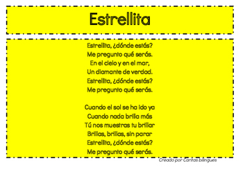 Poems, Songs, and Rhymes in Spanish