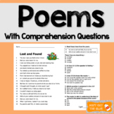 Poems With Comprehension Questions and Stratagies