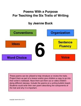 Poems With a Purpose For Teaching the Six Traits of Writing