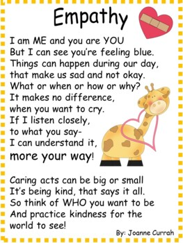 Poems, Writing and Coloring Activities To Reinforce Kindness and Friendship