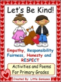 Kindness and Friendship Poems, Writing and Coloring Activities for Children