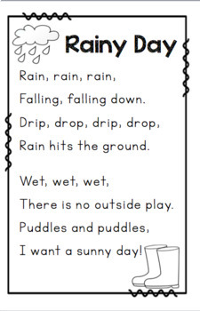 Poems About Weather And Seasons By Miss P S Style Tpt
