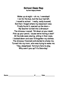 Poems and Grammar/Reading Strategies