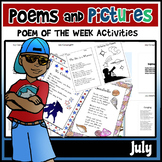 Poems and Pictures- July Original Poetry, Visuals, Responses, and JOURNALS!