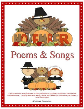 Poems and Songs for November