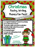 Poems for Christmas, Writing, and Coloring Math Fun Pack-P