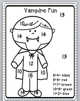Poems for Halloween, Writing, and Coloring Math Fun Pack-Perfect for Primary