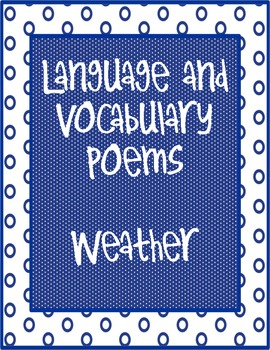 Poems for Language and Vocabulary-The Weather