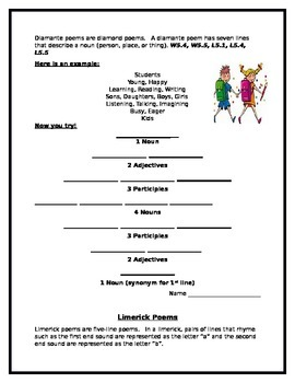 Poems for Students to Create Aligned With the Common Core