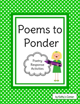 Poems to Ponder - Poetry Response Activities