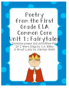 Poems with Actvities for 1st Grade ELA Common Core Unit 1