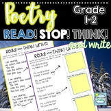 Poems with Questions Grades 1-2 with Stop and Think ~ 1st/2nd Grade Poetry