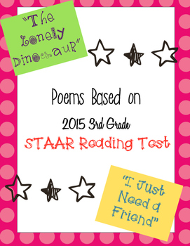 Poems with Questions based on STAAR 2015 Test (3rd Grade)