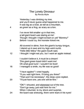 Poems with Questions based on STAAR 2015 Test (3rd Grade ...
