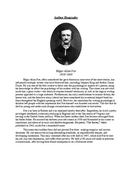 "Poe's ""A Tell-Tale Heart"" -- Teaching Unreliable Narrator, Symbolism"