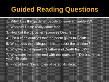 """Poe's """"Annabel Lee"""" and Justice's """"Incident in a Rose Garden""""  (PowerPoint)"""