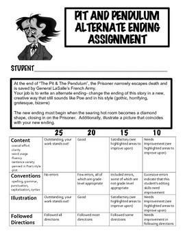 Poe's Pit and Pendulum Creative Activities!  (12 page packet)