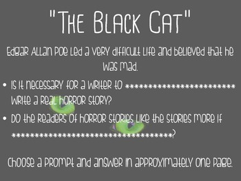 "Poe's ""The Black Cat"" Story Unit"