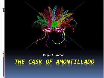 """Poe's """"The Cask of Amontillado"""" PowerPoint, Text, Vocabulary, and Activities"""