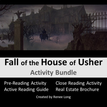 """Poe's """"The Fall of the House of Usher"""" Activity Pack"""