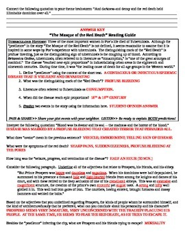 """Poe's """"The Masque of the Red Death"""" Reading Guide"""