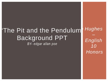 """Poe's """"The Pit and the Pendulum"""" Images PPT"""