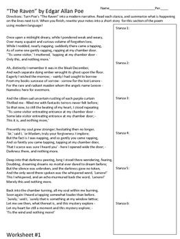 "Poe's ""The Raven"" Mini-Unit/Writing Exercise {CCSS Aligned}"