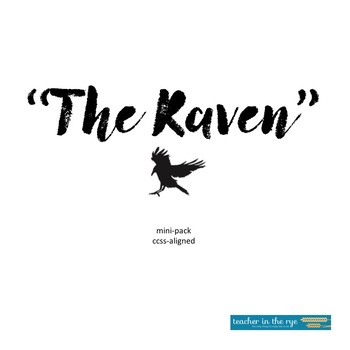 "Poe's ""The Raven"" Mini-Unit/Writing Exercise {CCSS Aligned}"