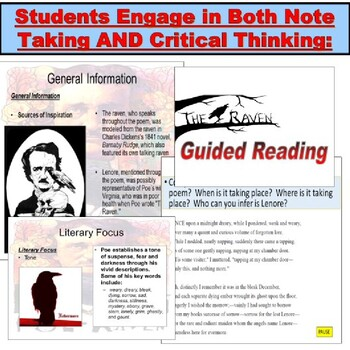 Poe's The Raven : Poem PowerPoint