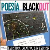 Spanish Blackout Poetry Powerpoint Handouts and Rubric | P