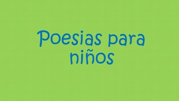 Poesias/Poems in Spanish