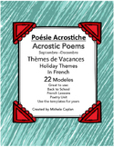 Poésie Acrostiche - Acrostic poems in French