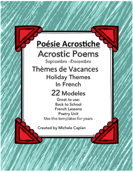 Poésie Acrostiche - Acrostic poems in French