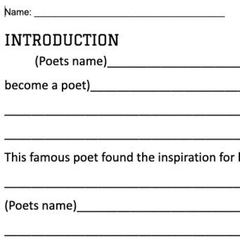 Poet Essay Outline (Love that Dog)